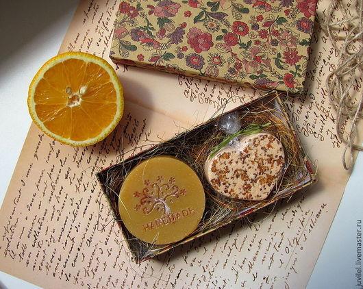 Подарочные наборы косметики ручной работы. Ярмарка Мастеров - ручная работа. Купить Orange flower. Handmade. Бордовый, подарочный набор