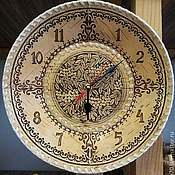 Для дома и интерьера handmade. Livemaster - original item Birch bark wall clock large. Clock for home. Clock for living room. Handmade.
