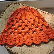 Аксессуары ручной работы. Ярмарка Мастеров - ручная работа Оранжевая панамка. Handmade.