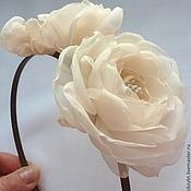 Украшения handmade. Livemaster - original item Headband with roses from fabrics