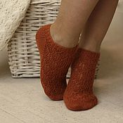 Аксессуары handmade. Livemaster - original item Slim short woolen socks