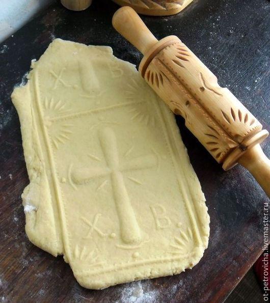 Кухня ручной работы. Ярмарка Мастеров - ручная работа. Купить Пряничная скалка № 005 Пасхальная. Handmade. Желтый, для кухни