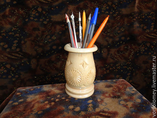 Карандашницы ручной работы. Ярмарка Мастеров - ручная работа. Купить Карандашница из дерева. Handmade. Бежевый, изделия из дерева