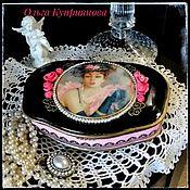 """Шкатулки ручной работы. Ярмарка Мастеров - ручная работа Шкатулка для украшений """"Pink&Black"""". Handmade."""