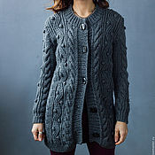 """Одежда ручной работы. Ярмарка Мастеров - ручная работа Кардиган вязаный """"Gray"""". Handmade."""