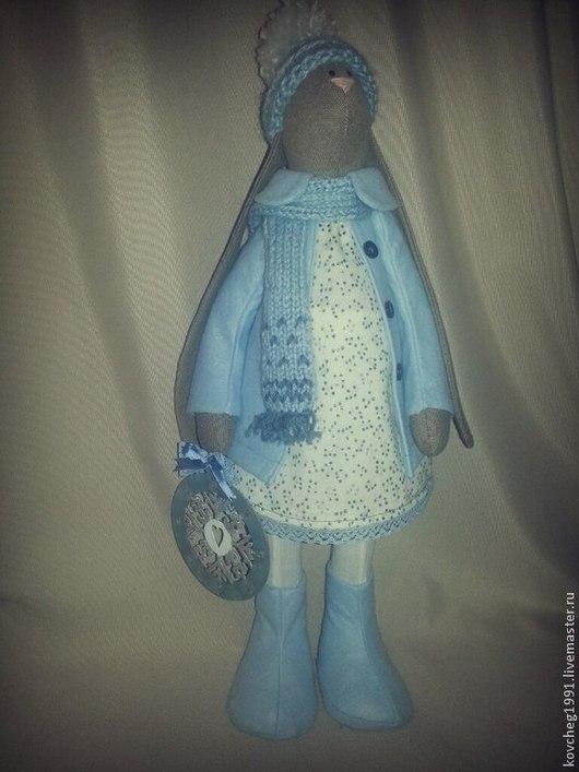 Куклы Тильды ручной работы. Ярмарка Мастеров - ручная работа. Купить Заяц тильда Снежинка. Handmade. Голубой, заяц тильда