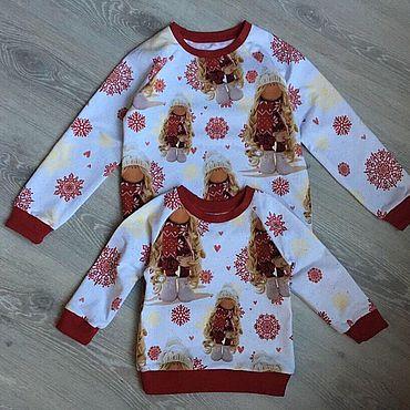 Одежда ручной работы. Ярмарка Мастеров - ручная работа Куколка в снежинках. Handmade.