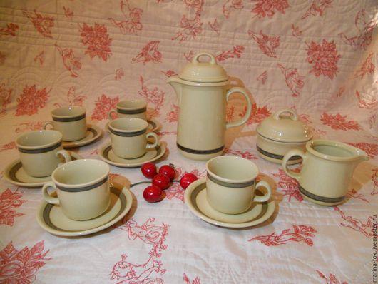 Винтажная посуда. Ярмарка Мастеров - ручная работа. Купить Vintage ГДР Colditz керамический сервиз кофе с молоком кофейный. Handmade.
