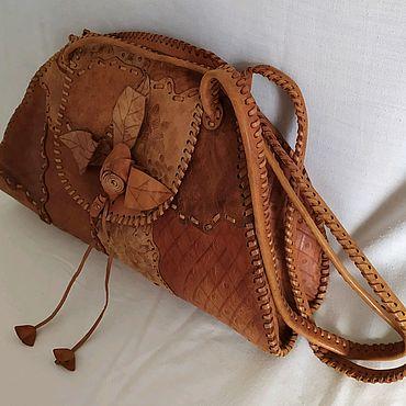 Винтаж ручной работы. Ярмарка Мастеров - ручная работа Кожаная сумка, стиль кантри. Handmade.