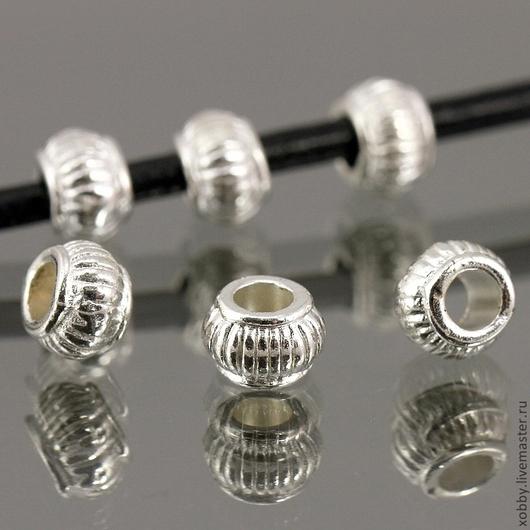 Бусины металлические спейсеры в форме китайского фонарика цвета светлого серебра\r\nМатериал бусин сплав\r\nЦвет покрытия серебро светлое