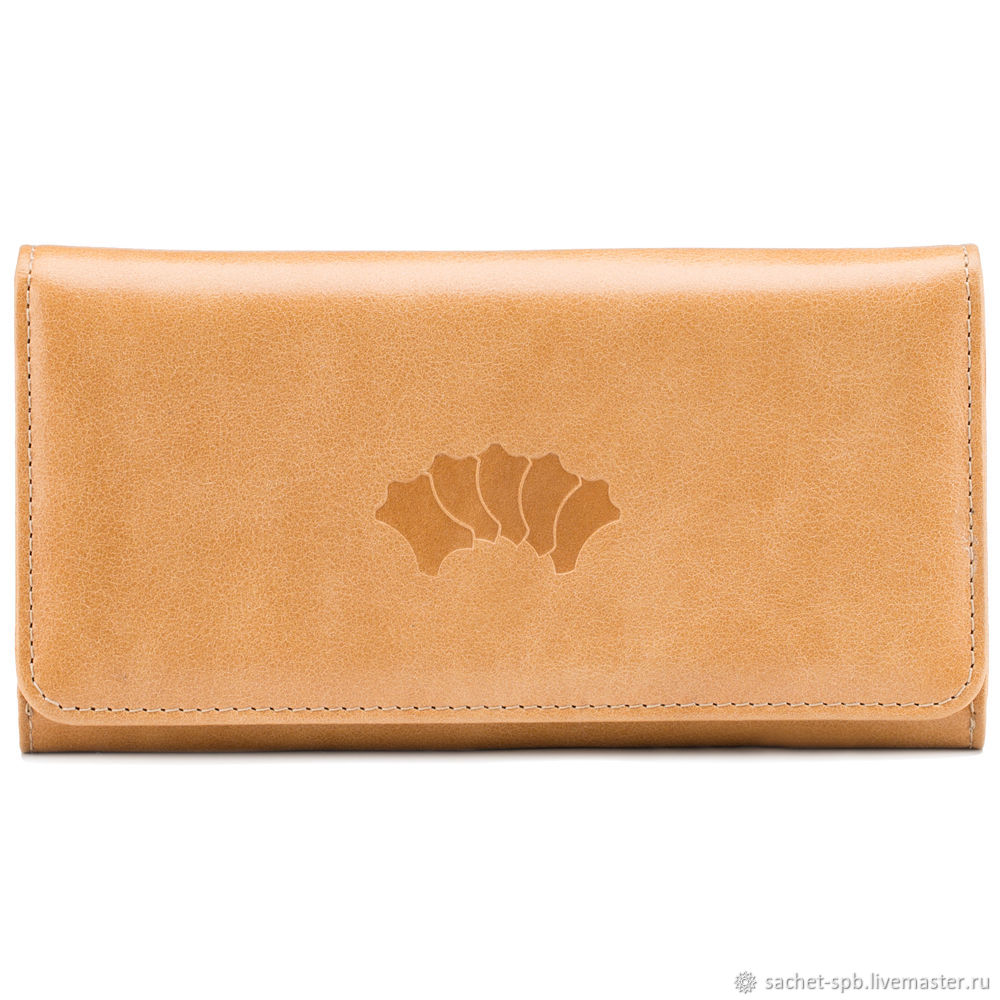 Leather purse 'France' (beige), Wallets, St. Petersburg,  Фото №1