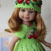 Одежда для кукол ручной работы. Ярмарка Мастеров - ручная работа Одежда для кукол Паола Рейна. Платье.Шляпка.. Handmade.