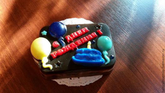 Мыло ручной работы. Ярмарка Мастеров - ручная работа. Купить имениный торт. Handmade. Коричневый, мыльный торт