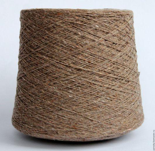 Вязание ручной работы. Ярмарка Мастеров - ручная работа. Купить Твид Италия  80% шерсть, 20% полиамид. Handmade. Бежевый