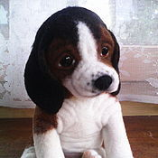 Куклы и игрушки handmade. Livemaster - original item Beagle puppy SHAH. Handmade.