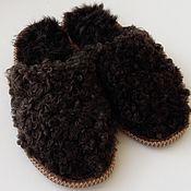 Обувь ручной работы. Ярмарка Мастеров - ручная работа тапочки женские каракулевые. Handmade.