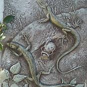 """Картины и панно ручной работы. Ярмарка Мастеров - ручная работа Барельеф """" Хранительницы сокровищ"""". Handmade."""