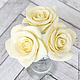Заколки ручной работы. Шпильки с розами (крупные) - Айвори кремовый. Tanya Flower. Интернет-магазин Ярмарка Мастеров. Заколка для волос