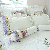 Для дома и интерьера handmade. Livemaster - original item The textile kit in the bedroom in Shabby Chic style creamy lilac. Handmade.