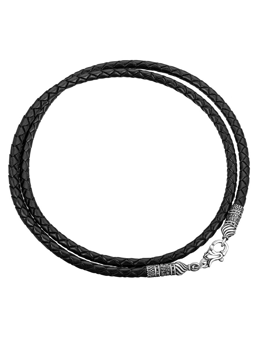 Leather string with silver lock!, Necklace, Belgorod,  Фото №1