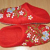Обувь ручной работы. Ярмарка Мастеров - ручная работа Валяные шлепки. Handmade.