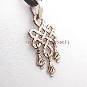 Фен-шуй и эзотерика handmade. Livemaster - original item Amulet Knot of Eternity-m. Amulets amulets in bronze. Handmade.