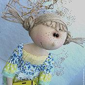 """Куклы и игрушки ручной работы. Ярмарка Мастеров - ручная работа Кукла текстильная интерьерная. """"Птички, прилетайте!"""". Handmade."""