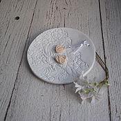 """Свадебный салон ручной работы. Ярмарка Мастеров - ручная работа """"Vanilla Wed"""" - свадебная тарелочка для обручальных колец. Handmade."""
