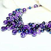 Украшения handmade. Livemaster - original item A necklace of pearls and amethyst