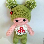 Куклы и игрушки ручной работы. Ярмарка Мастеров - ручная работа пупс вязаный в зелёном. Handmade.