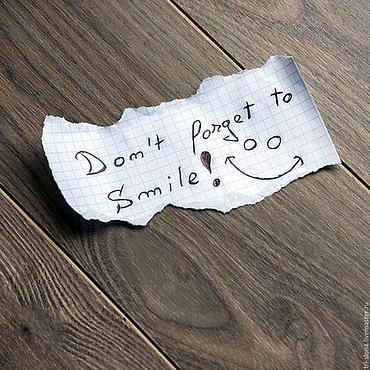 """Картины и панно ручной работы. Ярмарка Мастеров - ручная работа Магнитная доска """"Не забудь улыбнуться"""". Handmade."""