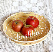 Для дома и интерьера handmade. Livemaster - original item Tray made of birch bark carved Floral. Plate for fruit, candy. Handmade.