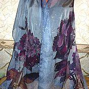 """Аксессуары ручной работы. Ярмарка Мастеров - ручная работа Батик палантин""""Шикарный""""натуральный шёлк, 190-72см.. Handmade."""
