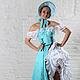 Танцевальные костюмы ручной работы. Ярмарка Мастеров - ручная работа. Купить Костюм для танца канкан. Handmade. Бирюзовый, костюм для канкана