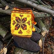 """Обувь ручной работы. Ярмарка Мастеров - ручная работа Валенки """"Зима в осенних цветах"""". Handmade."""
