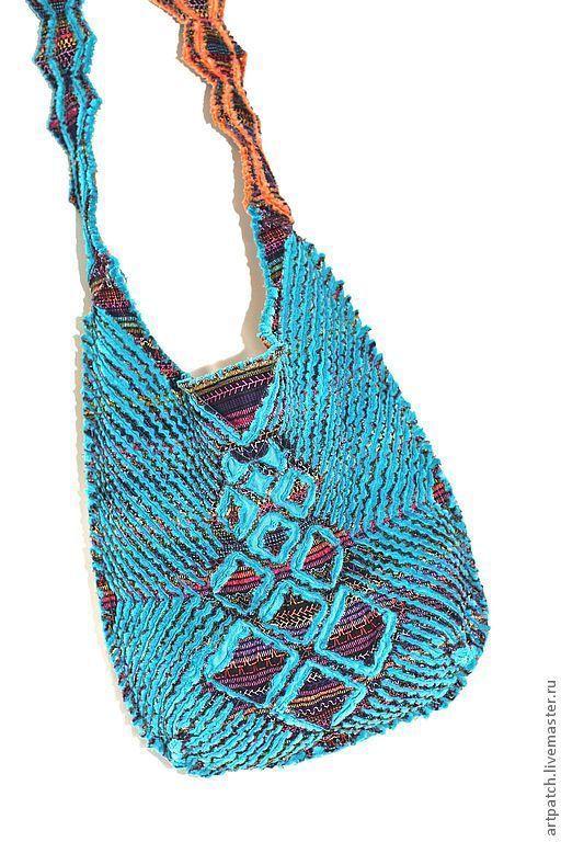 """Женские сумки ручной работы. Ярмарка Мастеров - ручная работа. Купить Сумка """"Бирюзовый закат"""" из 100% американского хлопка. Handmade."""