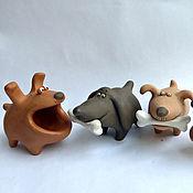 Подарки к праздникам handmade. Livemaster - original item Sobakasu extraordinary. Ceramics. Figurines of dogs. .. Handmade.
