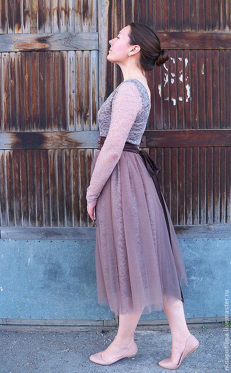 """Платья ручной работы. Ярмарка Мастеров - ручная работа. Купить Платье """"Молочный шоколад"""". Handmade. Вечернее платье, нарядное платье"""