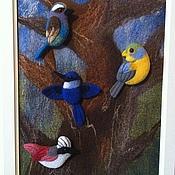 Украшения ручной работы. Ярмарка Мастеров - ручная работа Птички-брошки. Handmade.