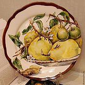 Посуда handmade. Livemaster - original item The painted porcelain.Painted porcelain plates.
