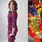 """Одежда ручной работы. Ярмарка Мастеров - ручная работа платье шелковое валяное """" Девичий виноград"""". Handmade."""
