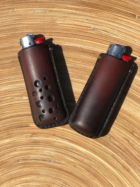 Кожаный чехол ручной работы с зажигалкой Big, Брелок, Краснодар,  Фото №1