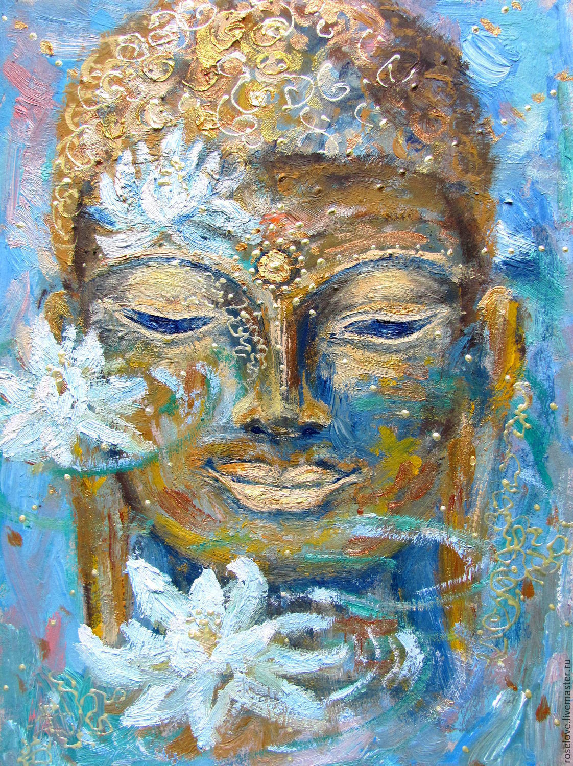 Oil painting ' Enlightenment of the World . Buddha ', Pictures, Moscow,  Фото №1