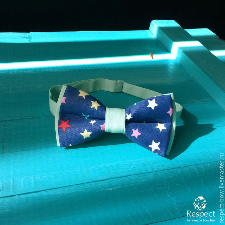 Tie Miriada / dark blue bow tie with stars, Ties, Moscow,  Фото №1