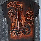 """Рубашки ручной работы. Ярмарка Мастеров - ручная работа Рубашка мужская  поло """"РОК""""  из льна. Handmade."""