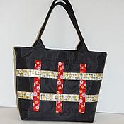 Сумки и аксессуары ручной работы. Ярмарка Мастеров - ручная работа яркая сумка для шоппинга. Handmade.