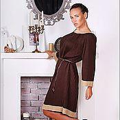 """Платья ручной работы. Ярмарка Мастеров - ручная работа Платье """" Шоколадное плиссе"""". Handmade."""