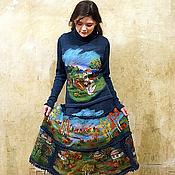 """Одежда ручной работы. Ярмарка Мастеров - ручная работа Копия работы Костюм свитер юбка """"Свободный Га-Га"""". Handmade."""
