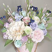 Букет Нежный. Цветы из полимерной глины ручной работы.