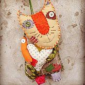 Куклы и игрушки ручной работы. Ярмарка Мастеров - ручная работа Кот текстильный. Handmade.